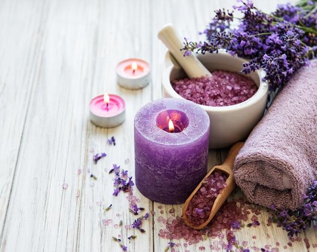Produtos de spa de lavanda