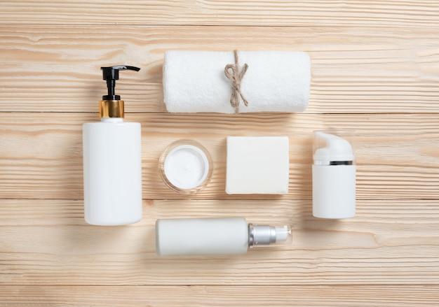 Produtos de spa em madeira.