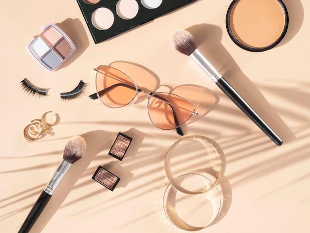 Produtos e acessórios para cosméticos de beleza
