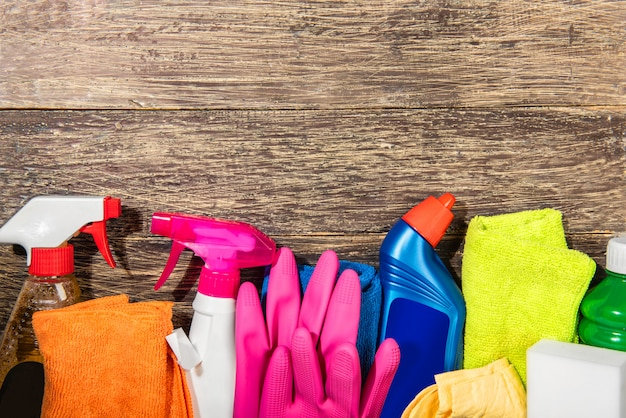 Produtos e ferramentas de limpeza