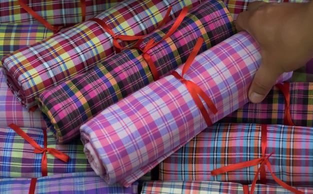 Produtos feitos à mão de algodão tecido à mão