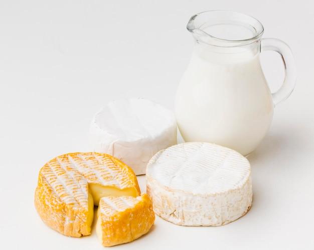Produtos lácteos em close