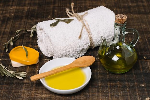 Produtos orgânicos de higiene com azeite