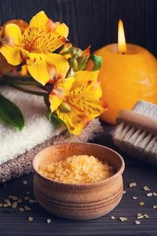 Produtos orgânicos spa com sal de banho