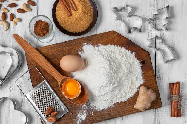 Produtos para fazer biscoitos de natal
