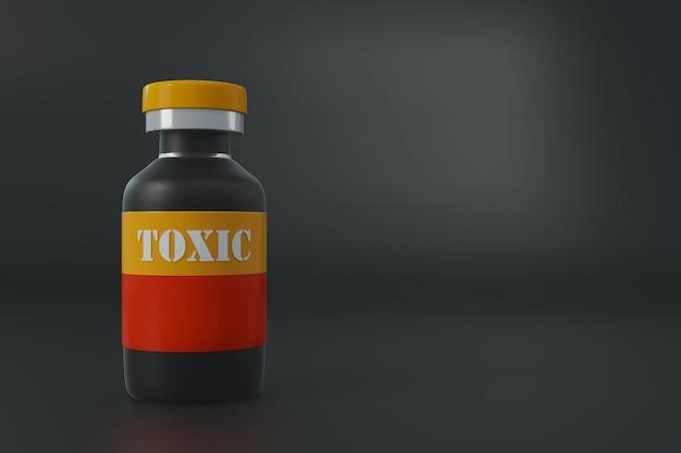 Produtos químicos tóxicos, conceito de saúde médica.