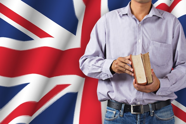 Professor na bandeira britânica