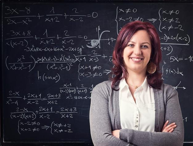 Professora feliz