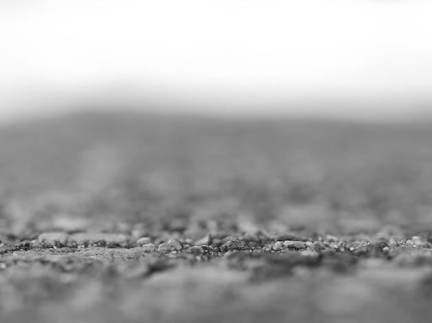 Profundidade de campo horizontal hd em preto e branco