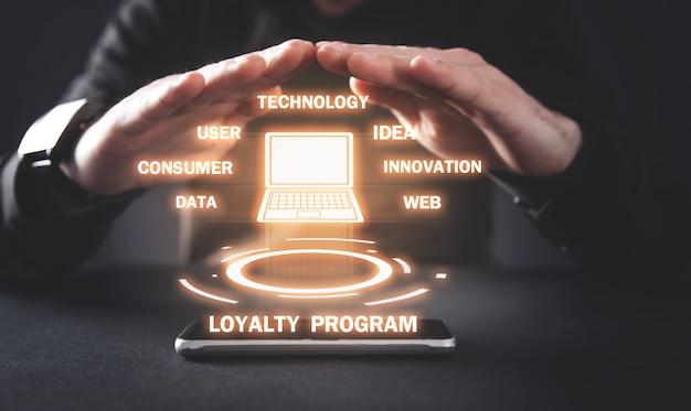 Programa de lealdade. marketing, estratégia, tecnologia, negócios