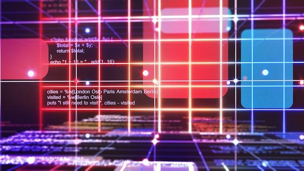 Programação para um sistema usando uma linguagem de programação.