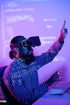 Programação virtual com óculos vr