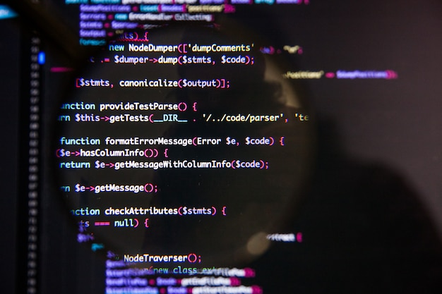 Programar o conceito ilustrativo de visualização de código na tela através de lupa