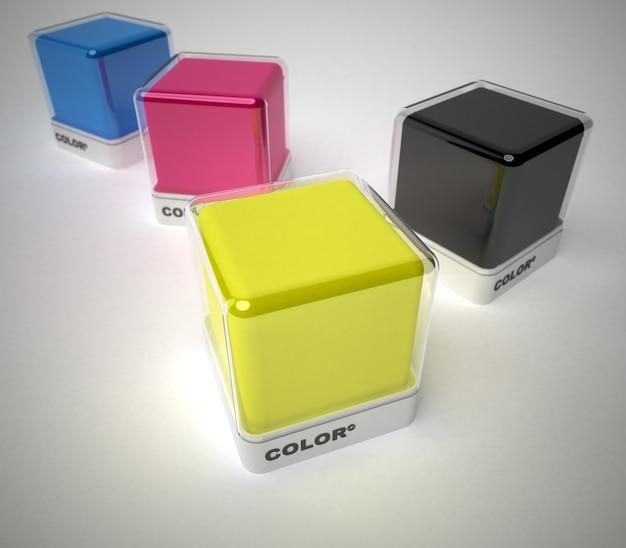 Projete blocos de cores em uma variedade de cores