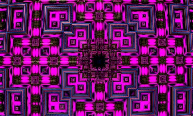 Projeto 3d fractal abstrato gerado por computador. o fractal é um padrão sem fim. os fractais são padrões infinitamente complexos que são auto-semelhantes em diferentes escalas. renderização 3d.