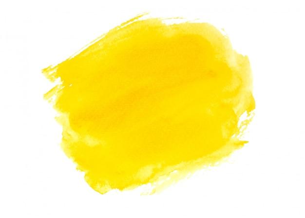 Projeto amarelo da textura do fundo da pintura da aguarela