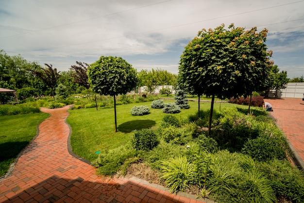 Projeto bonito da paisagem do jardim