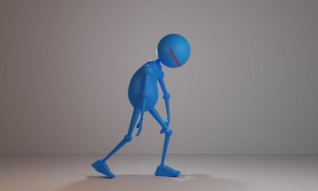 Projeto da ilustração 3d da atividade stickman
