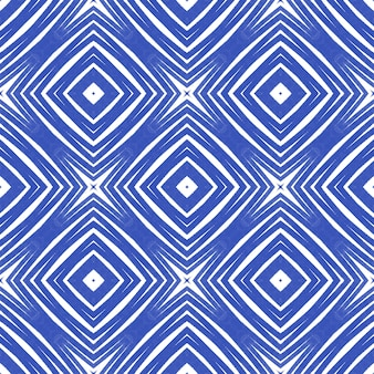 Projeto das listras da divisa. fundo de caleidoscópio simétrico índigo. impressão mesmérica pronta para têxteis, tecido de biquínis, papel de parede, embrulho. padrão de listras geométricas chevron.
