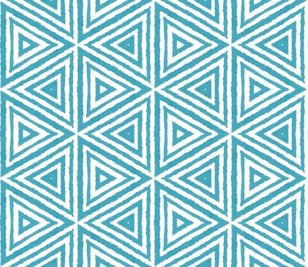 Projeto das listras da divisa. fundo de caleidoscópio simétrico turquesa. impressão atraente pronta para têxteis, tecido para biquínis, papel de parede, embrulho. padrão de listras geométricas chevron.