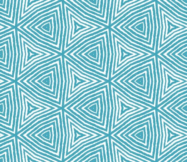 Projeto das listras da divisa. fundo de caleidoscópio simétrico turquesa. padrão de listras geométricas chevron. impressão eminente pronta para têxteis, tecido de biquíni, papel de parede, embrulho.