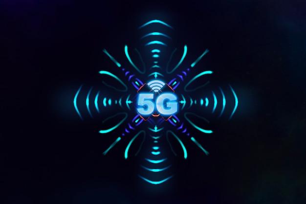 Projeto de conceito de tecnologia 5g com ilustração