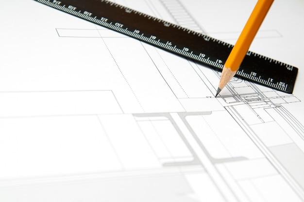 Projeto de construção. conceito arquiteto