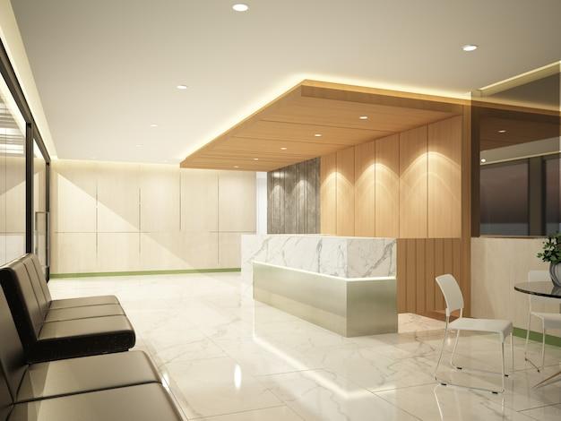 Projeto de esboço de recepção de interiores