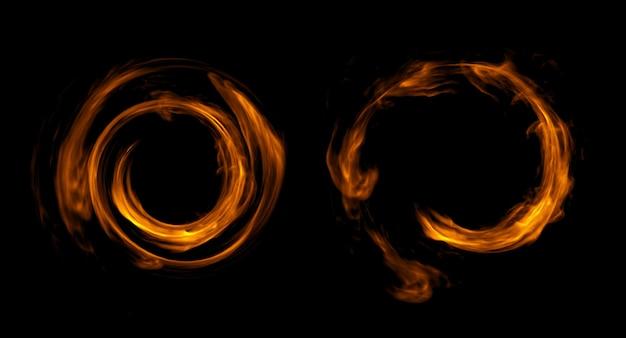Projeto de fogo em fundo preto. fechar-se