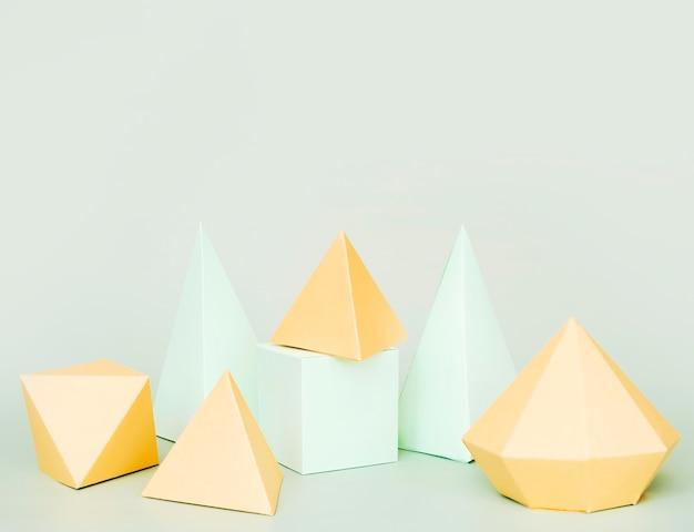 Projeto de forma geométrica de papel