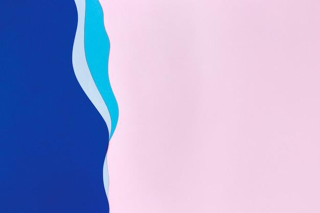 Projeto de fundo de formas de papel colorido