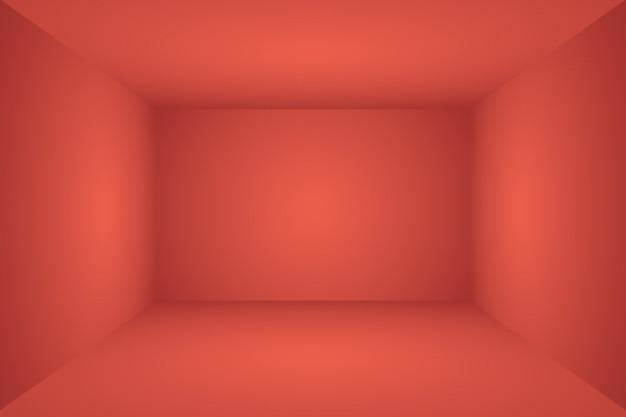 Projeto de layout abstrato macio luxo vermelho fundo natal dia dos namorados, estúdio, quarto, modelo web, relatório comercial com cor gradiente círculo suave. 3d