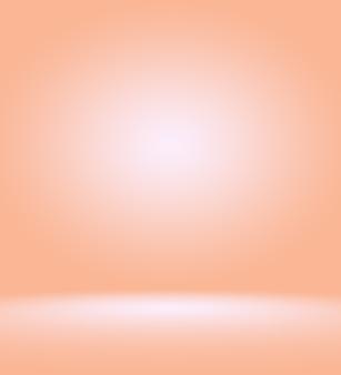 Projeto de layout de fundo laranja suave abstrato, estúdio, sala, modelo da web, relatório de negócios com cor gradiente de círculo suave
