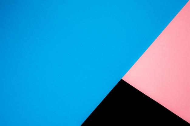 Projeto de material de fundo de formas coloridas de papel mínimo