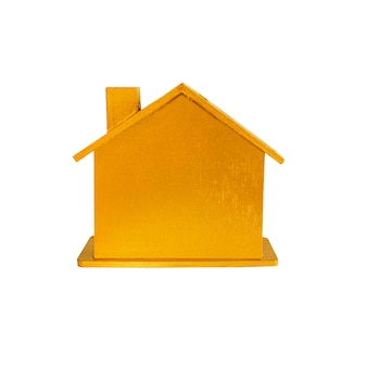 Projeto de modelo de casa dourada para imóveis caros.