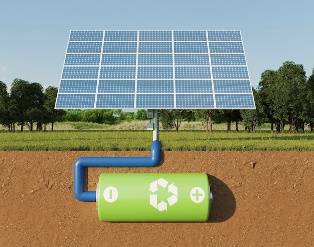 Projeto de painéis solares 3d para economia de energia