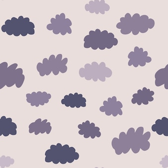 Projeto de plano de fundo do tempo para tecido e decoração. padrão sem emenda de nuvens. textura para papel de parede, plano de fundo, álbum de recortes. ilustração vetorial