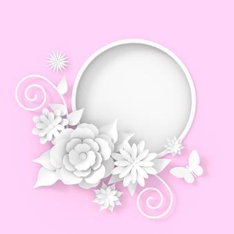 Projeto do fundo do quadro da flor. renderização 3d.