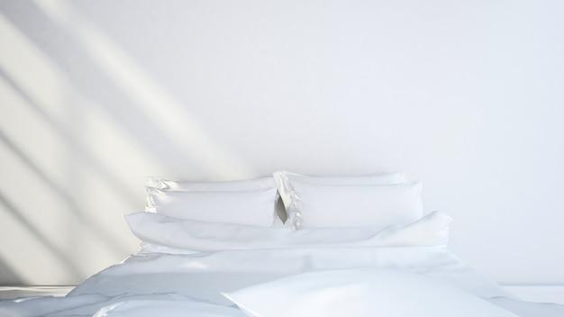Projeto limpo do tom branco do quarto - rendição 3d