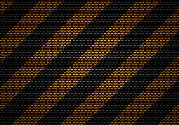 Projeto material textured abstrato do carbono preto com fita de advertência