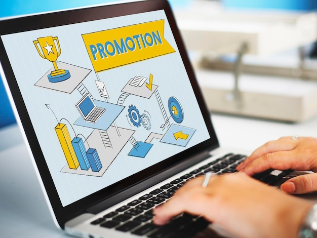 Promoção, marketing, publicidade, branding, venda, conceito
