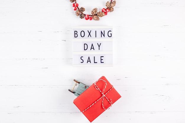 Promoção sazonal de venda de dia de boxe