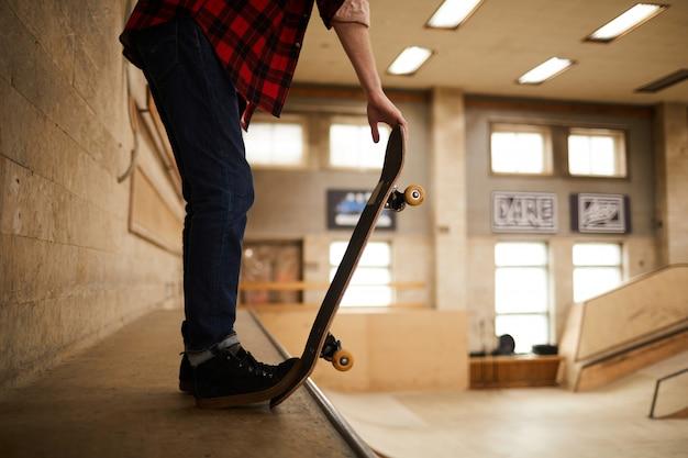Pronto para acrobacias de skate
