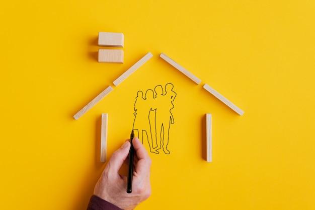 Propriedade residencial e imagem conceitual de seguro