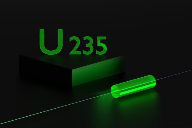 Propriedades de fluorescência do isótopo de urânio u 235.