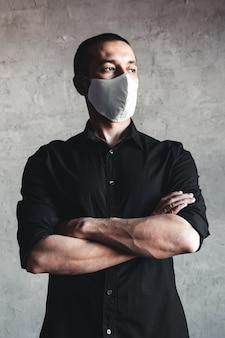 Proteção contra doenças contagiosas, coronavírus.