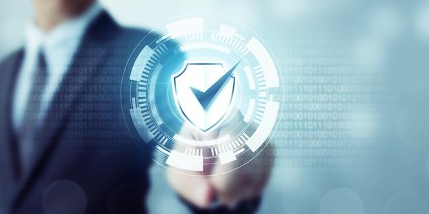 Proteção de rede de segurança de computador e conceito de segurança de seus dados