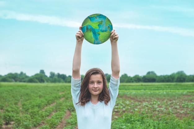 Proteção e amor pela representação da terra