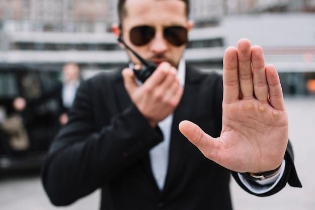 Protecção profissional de vista frontal