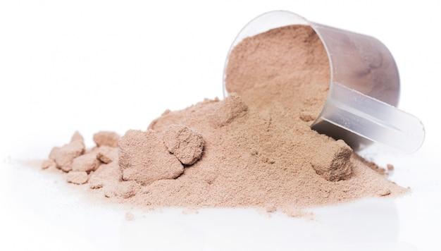 Proteína em pó e colher